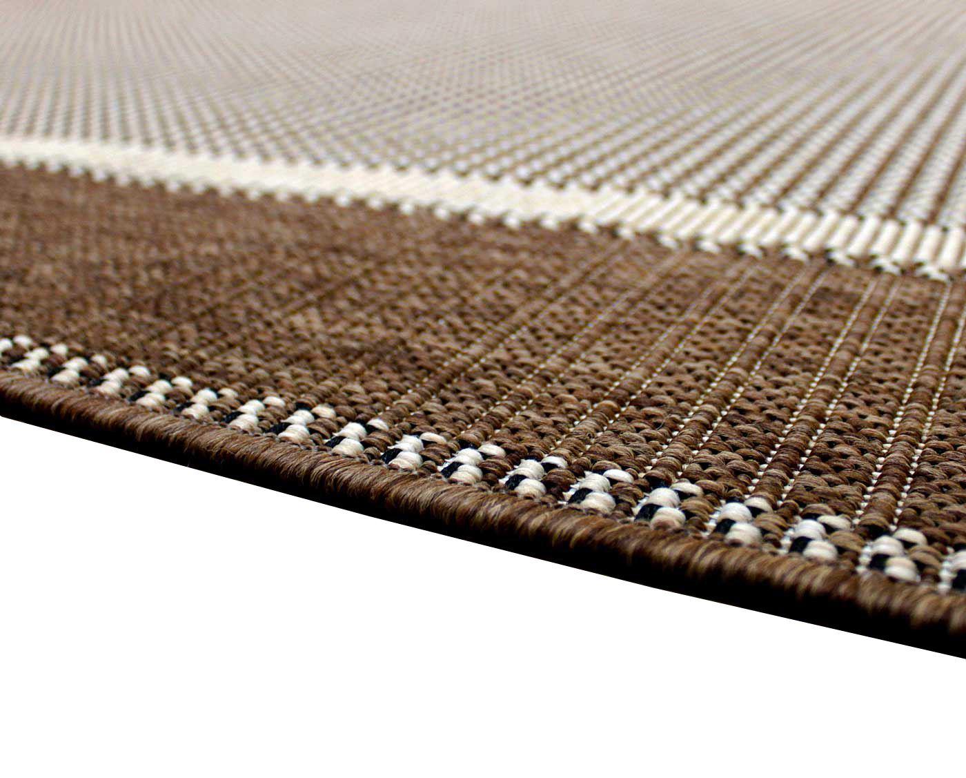 New Flatweave Border Pattern Hardwearing Indoor / Outdoor