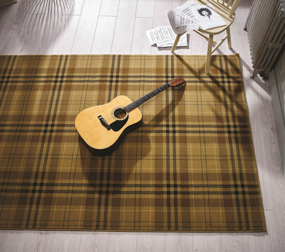 Red And White Checkered Rug: Tartan Hard Wearing Quality Checkered Rug Soft Touch Red