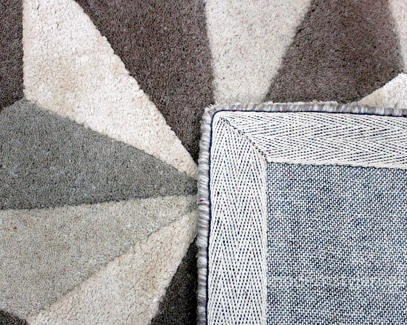 Quality Thick 100 Modern Wool Rugs Diamond Design With