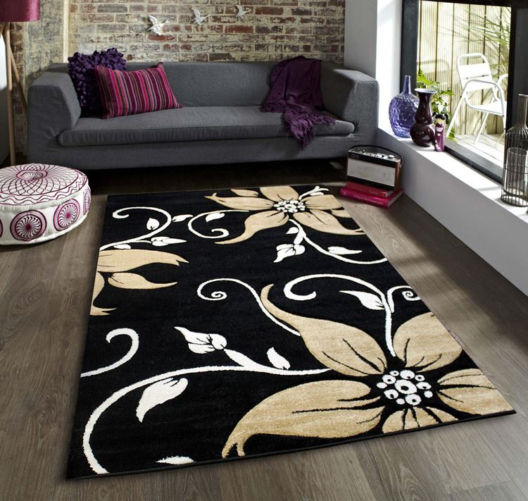 Black And White Rug Ebay Uk: Black Red Beige Green Purple Brown White Modern Large