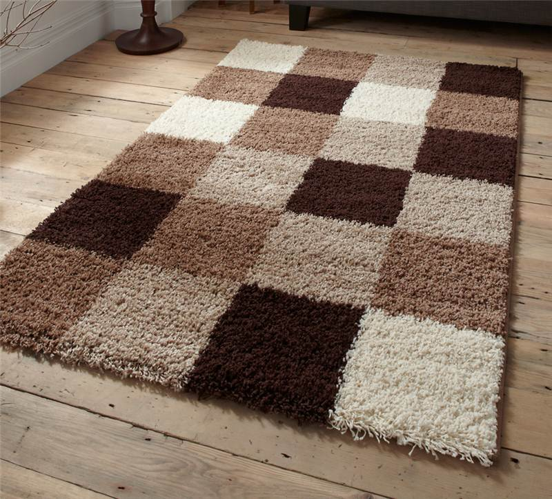 brown beige green check squares damask black shaggy modern rugs sold cheap ebay. Black Bedroom Furniture Sets. Home Design Ideas