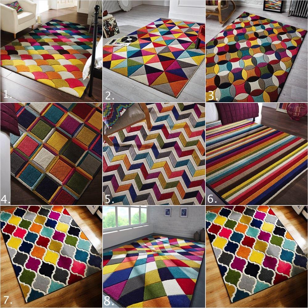 Qualit morbido tappeti moderni multicolore modelli funky - Tappeti damascati ...