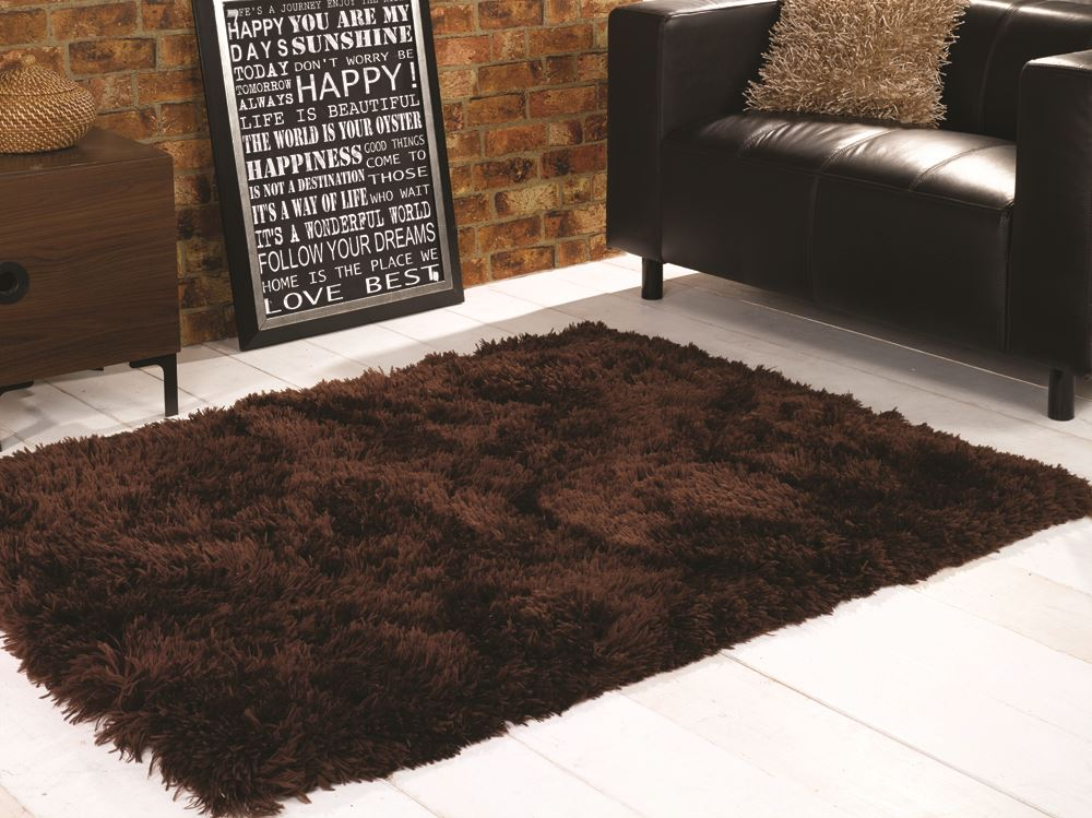 Brown Shaggy Long 8 1cm Very Thick Luxury Shag Pile Rug