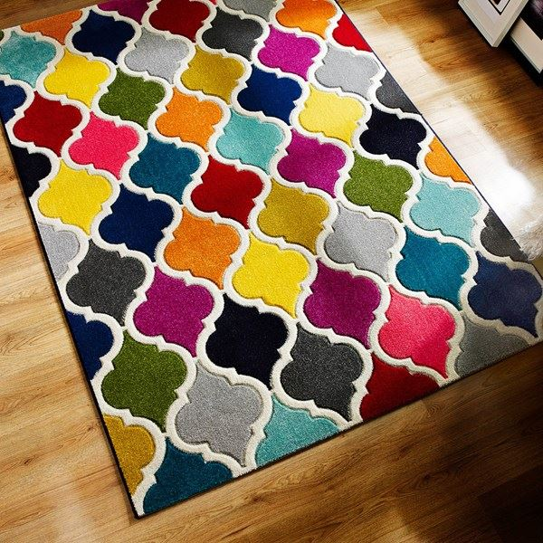 Quality Soft Touch Modern Rugs Multi Colour Designs Funky Patterns - 3 Sizes
