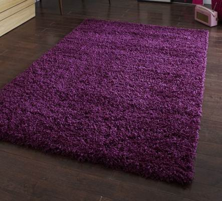 Modern Purple Aubergine Plum Colour Rugs In Large