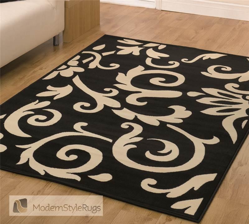 retro black red brown floral design small large lounge rug sold cheap ebay. Black Bedroom Furniture Sets. Home Design Ideas