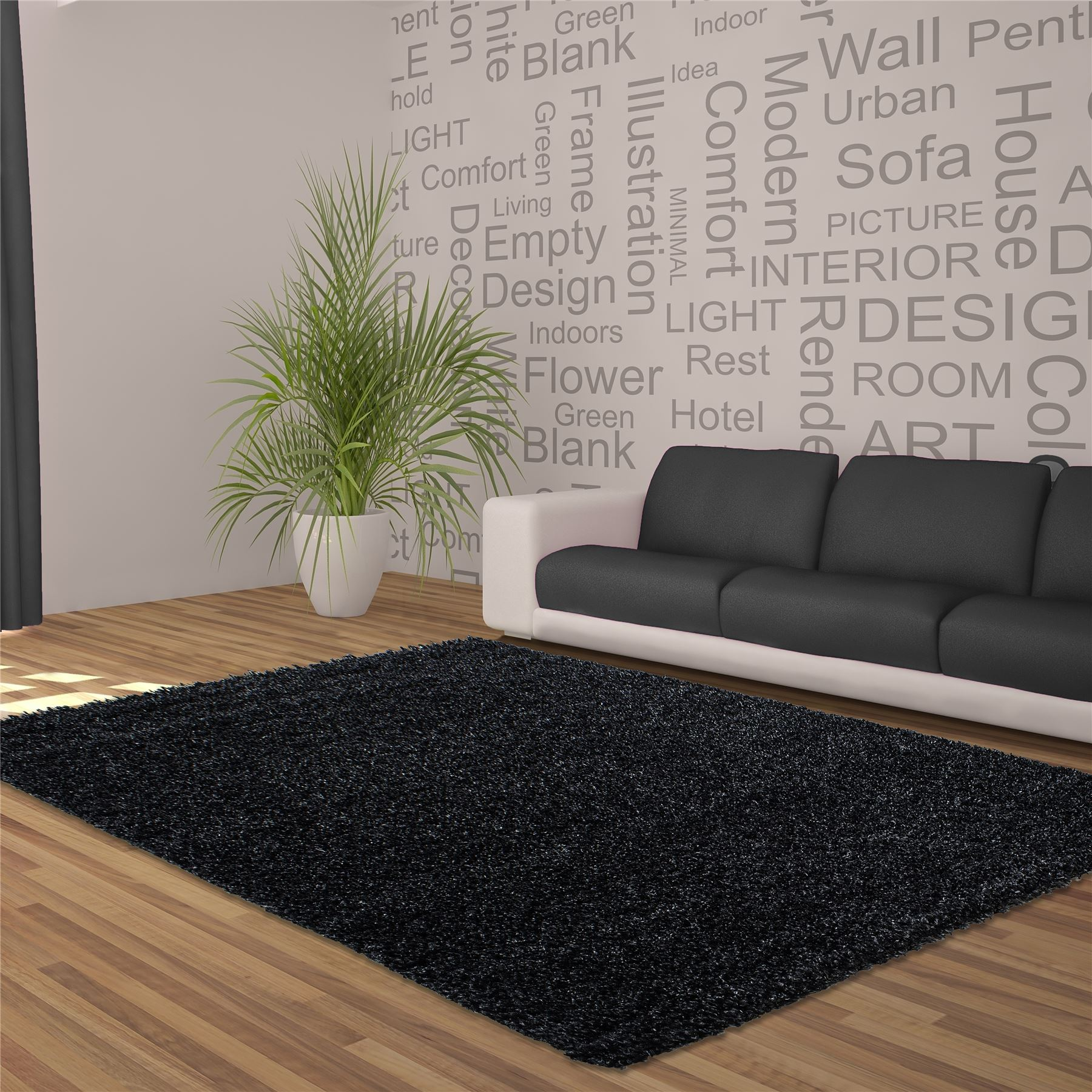 5cm Thick Soft Touch Shaggy Shag Pile Rugs
