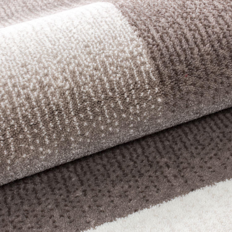 Modern Steintapete Beige ~ Modern contemporary squares swirls black red beige grey