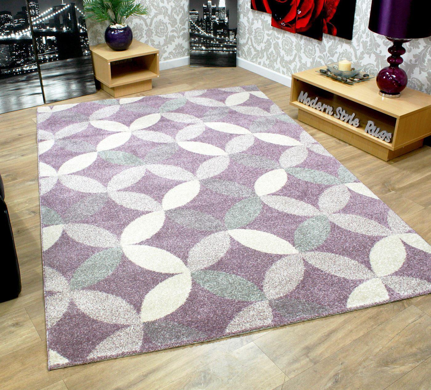 Nuevo gris p rpura crema tacto suave grueso alfombra Alfombras grandes modernas