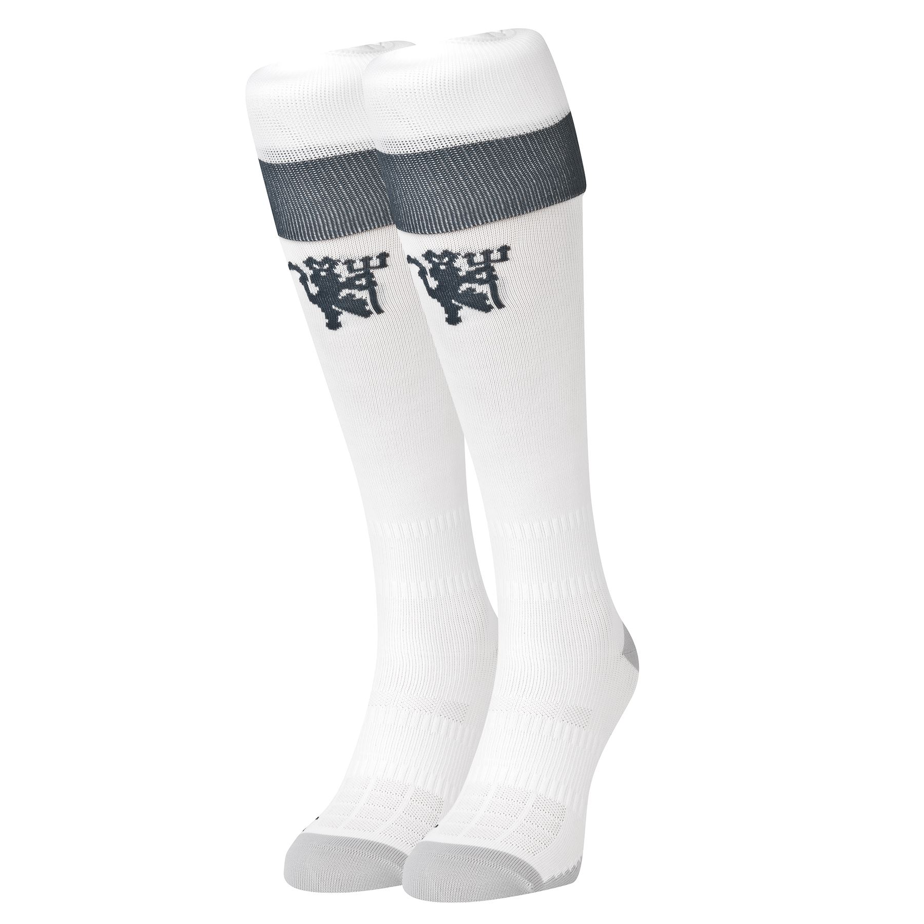 adidas hommes football manchester united 3 me chaussettes longues 2016 17 blanc ebay. Black Bedroom Furniture Sets. Home Design Ideas