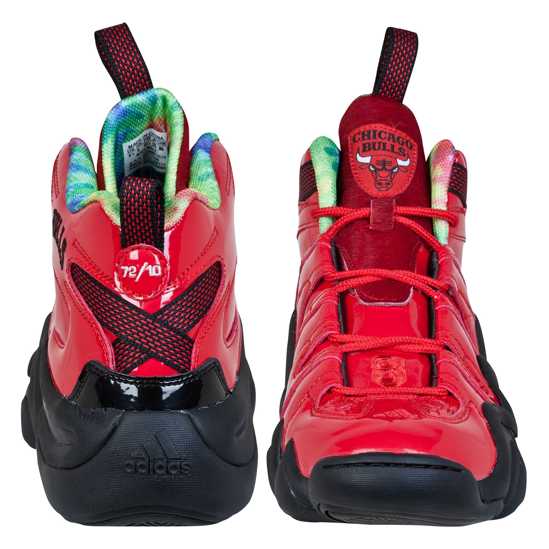 new arrival 93941 00d13 ... adidas Mens Chicago Bulls Crazy 8 Basketball Sports Shoes Trainers  RedBlack ...