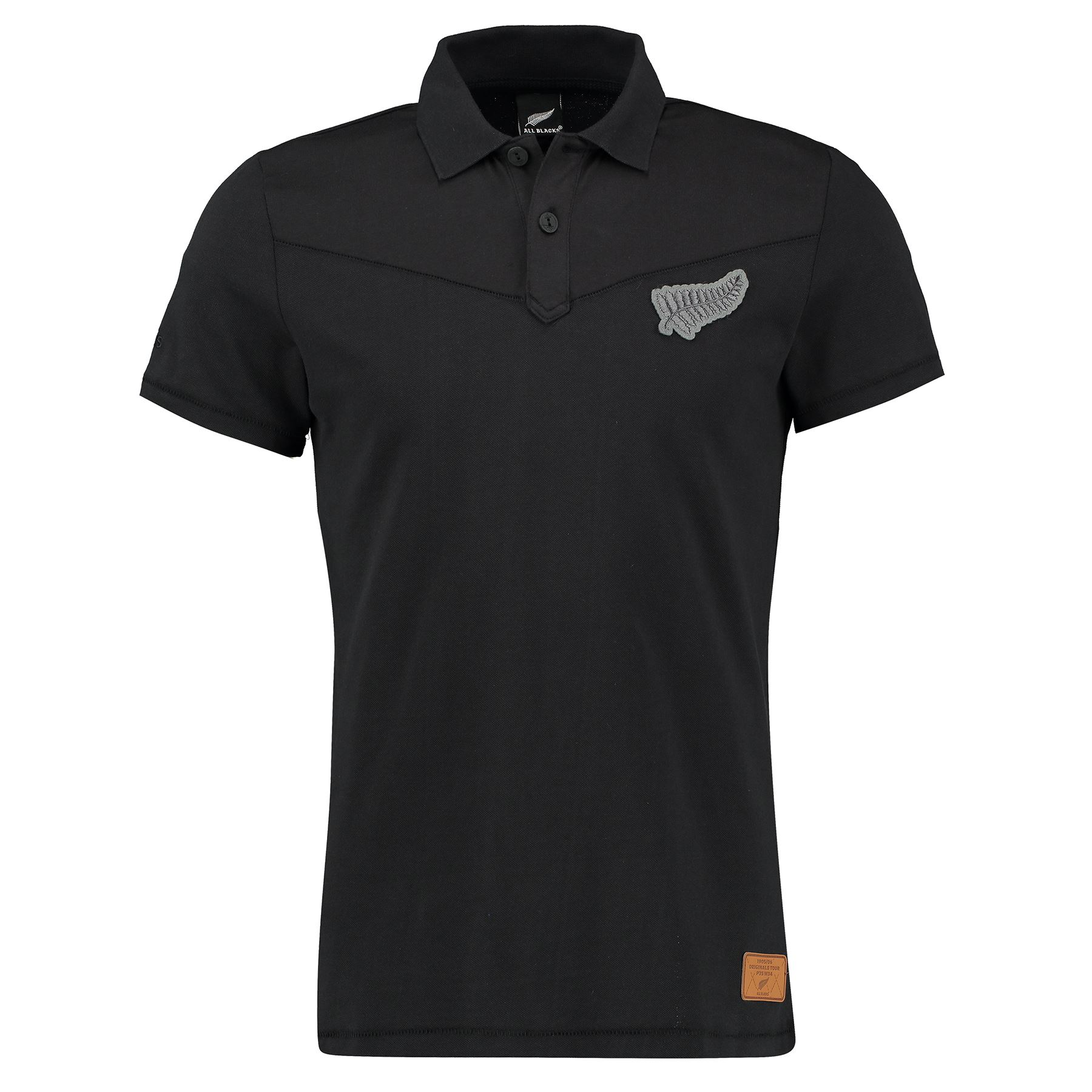 mens all blacks 16th rugby team short sleeve polo shirt black ebay. Black Bedroom Furniture Sets. Home Design Ideas