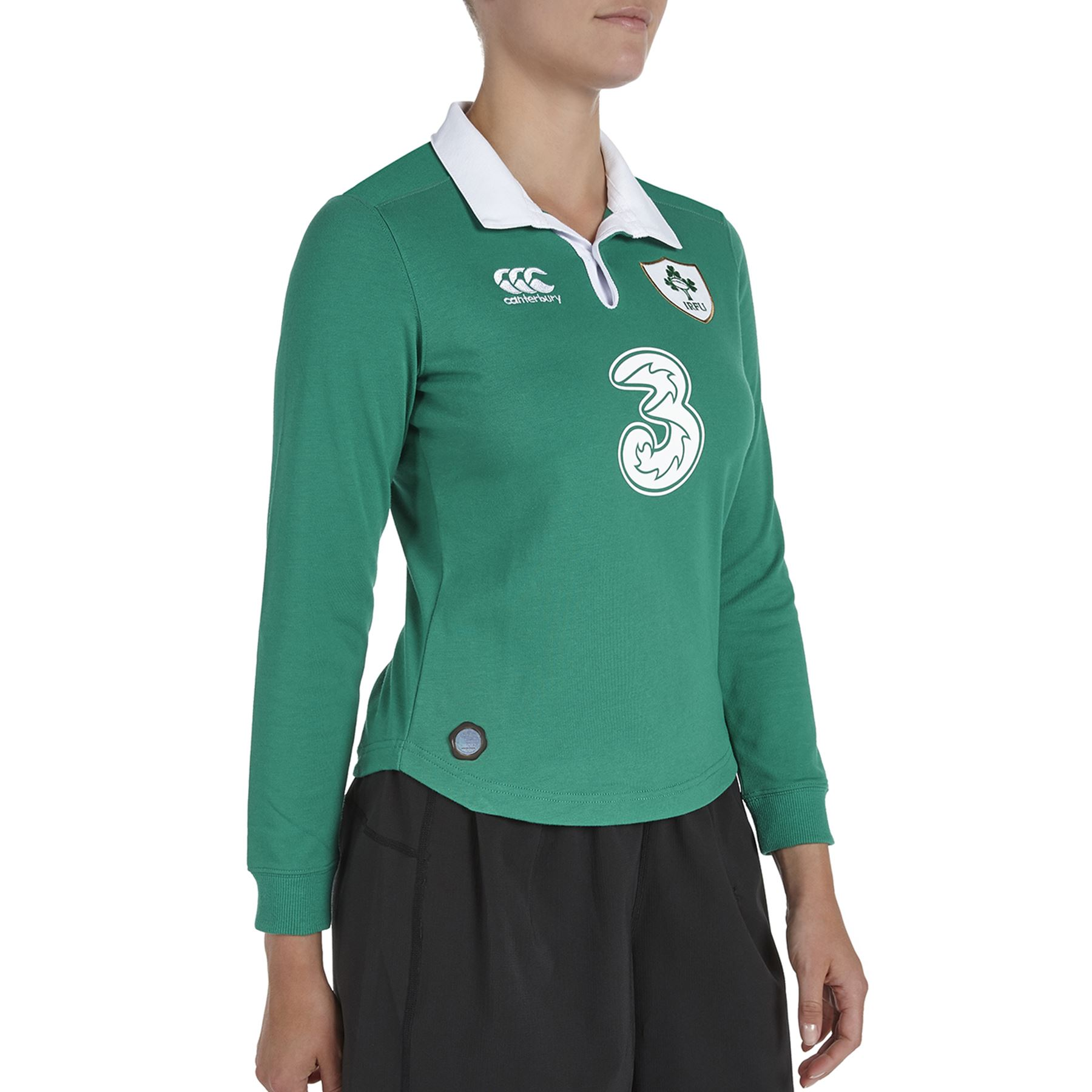 Canterbury Womens Ireland Rugby Home Classic Long Sleeve