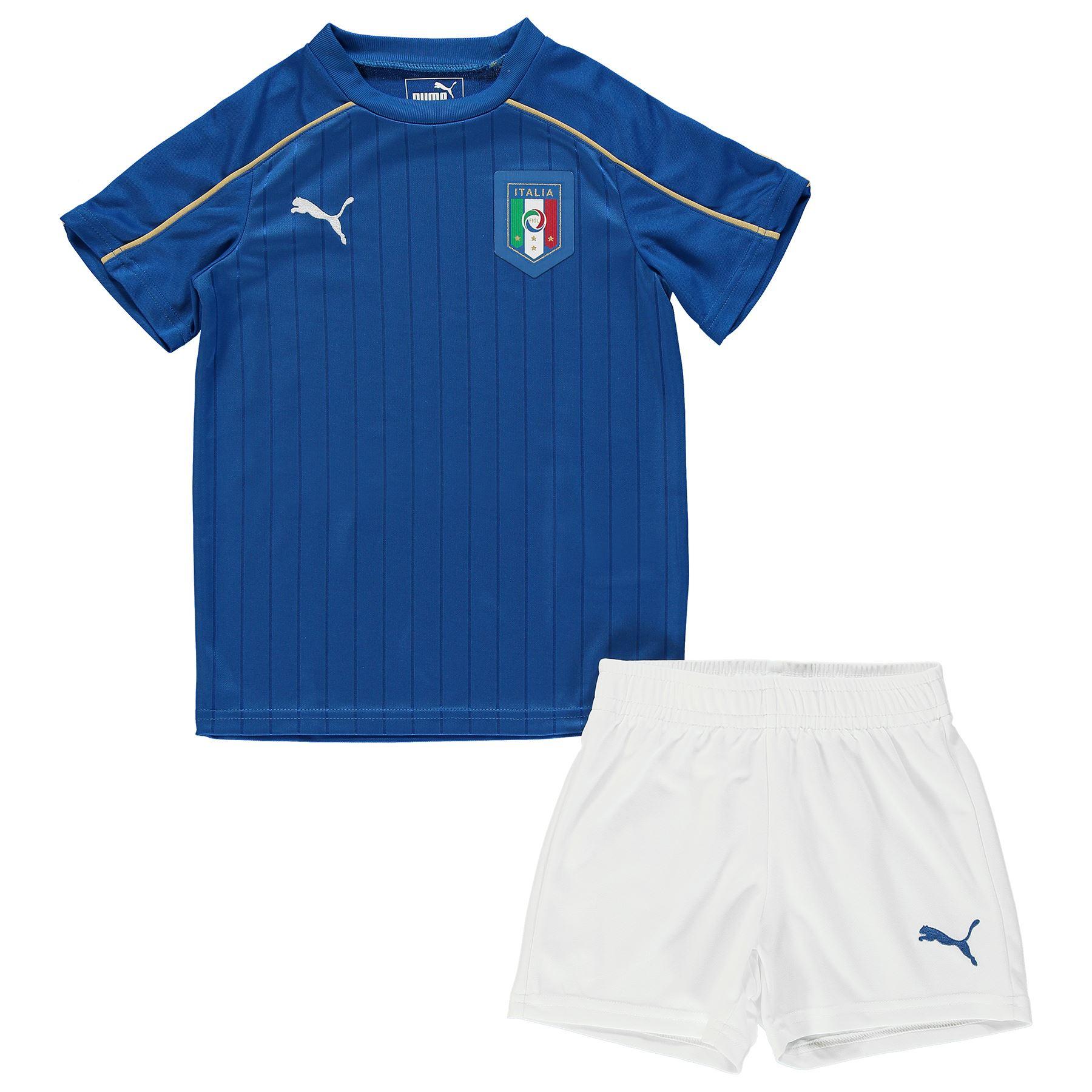 Puma childrens kids football soccer italy home mini kit for Italian kit