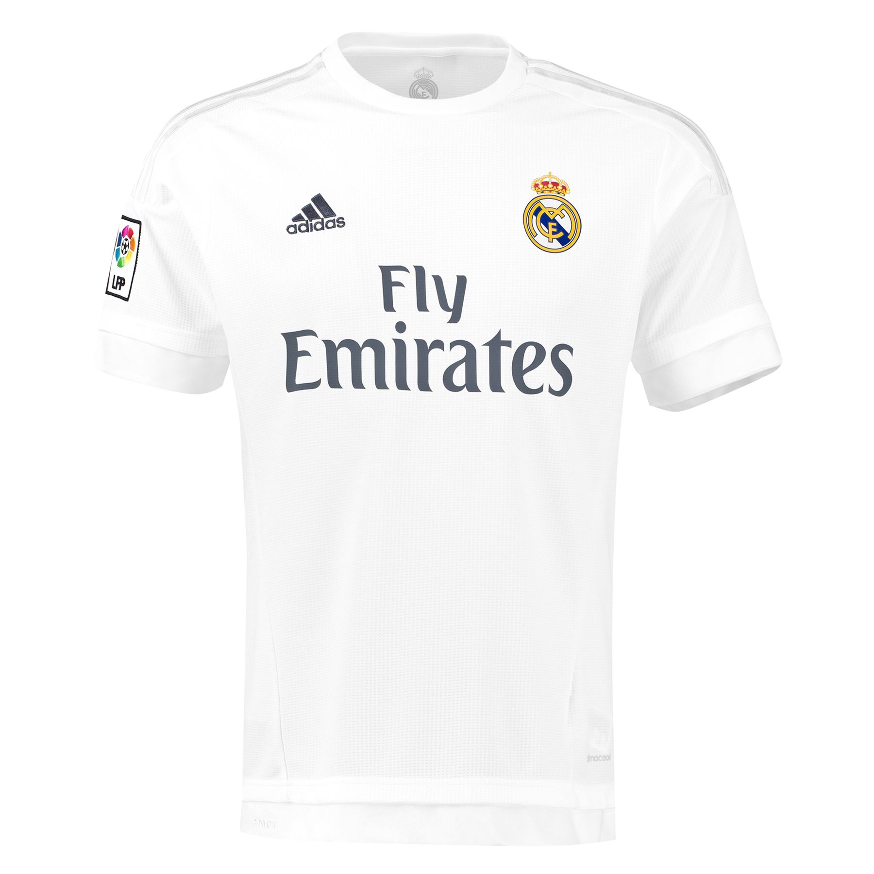 adidas mens real madrid football home shirt jersey t shirt top 2015 16 white ebay. Black Bedroom Furniture Sets. Home Design Ideas
