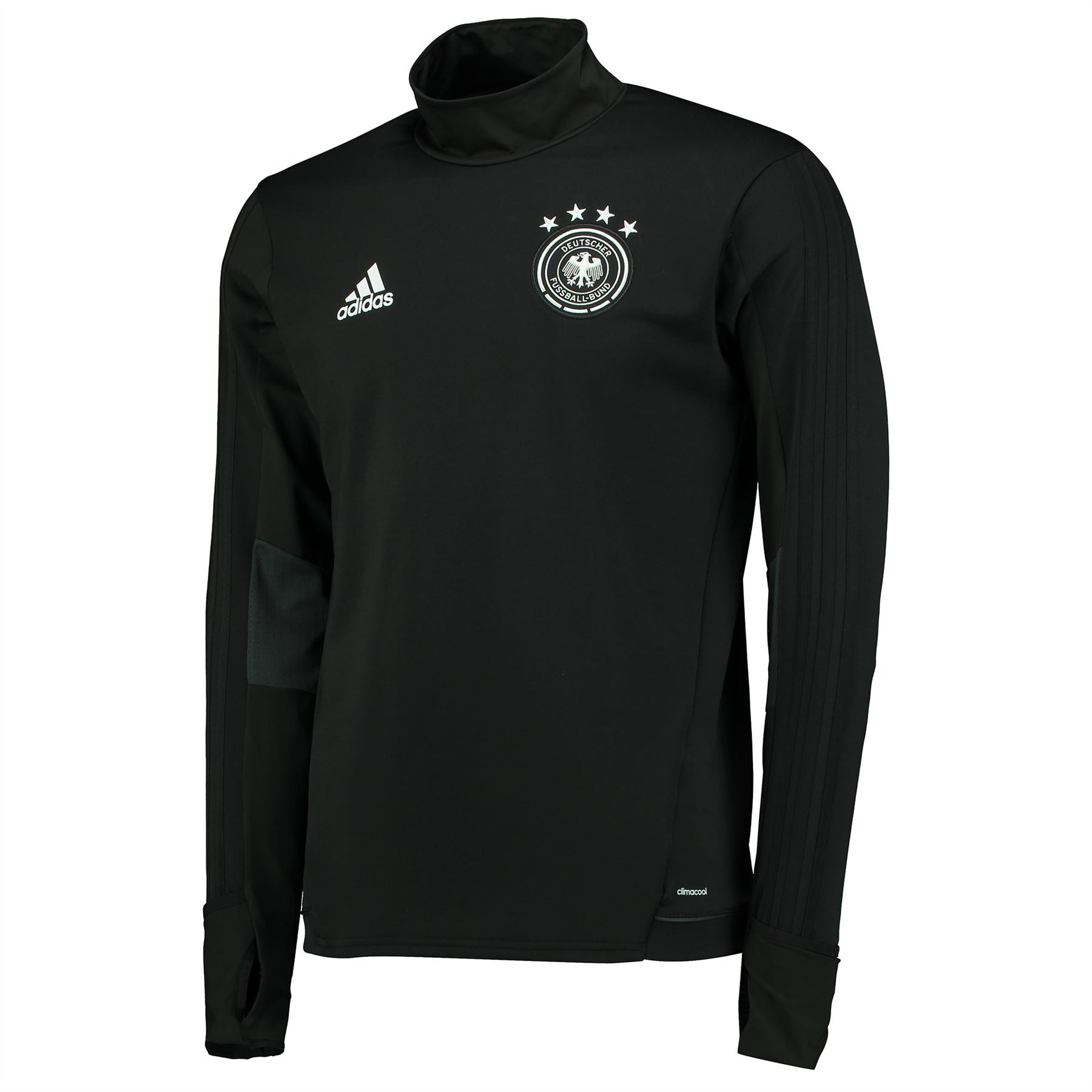 Details about adidas Mens Gents Football Soccer Germany Long Sleeve Training  Shirt Top - Black 99d951aa6