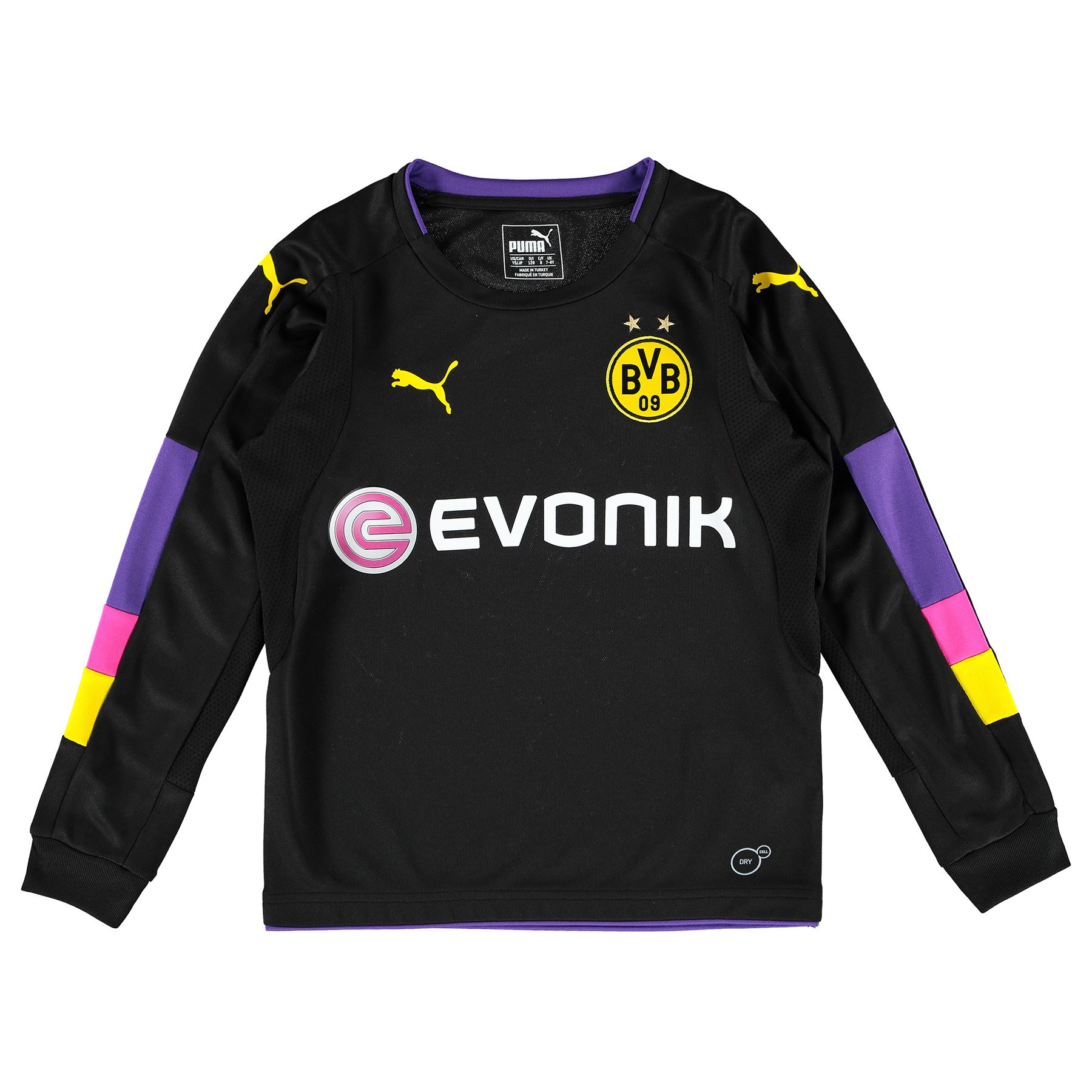 puma kinder fussball bvb dortmund torwart shirt trikot. Black Bedroom Furniture Sets. Home Design Ideas