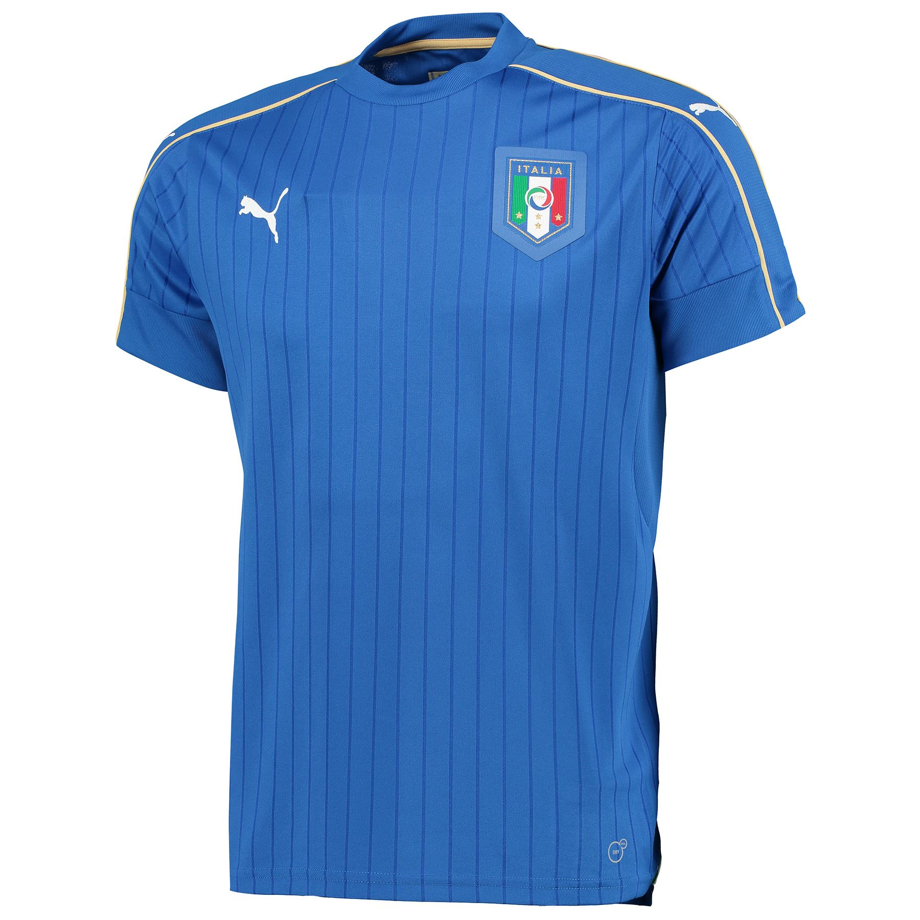 gents football soccer italy national team home shirt 2016 blue ebay. Black Bedroom Furniture Sets. Home Design Ideas