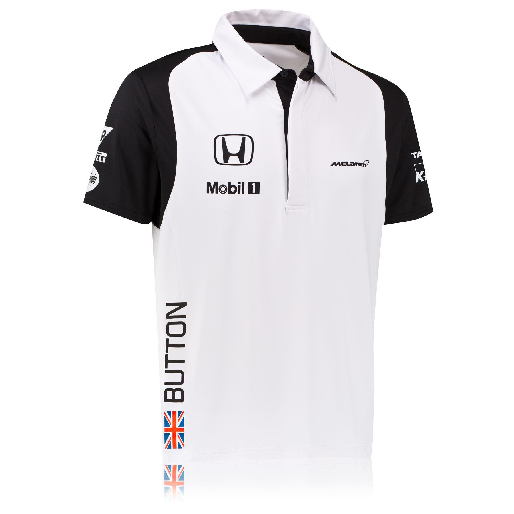 Mclaren Honda Jenson Button Team Short Sleeve Polo Shirt