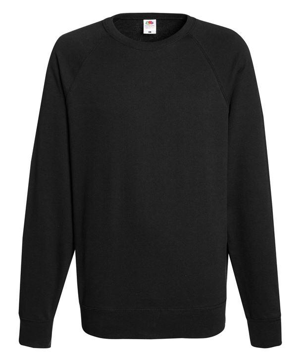 Fruit of the Loom Lightweight raglan sweatshirt FOTL