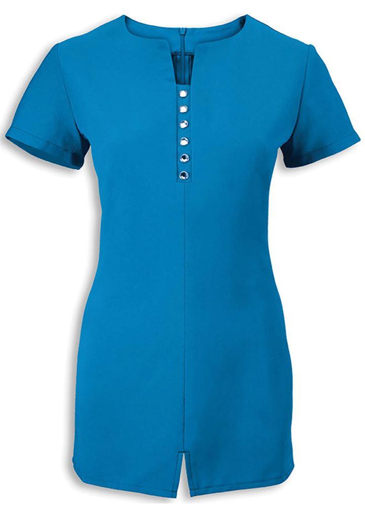 Alexandra women 39 s workwear notch neck beauty tunic nf58 for Unifor spa