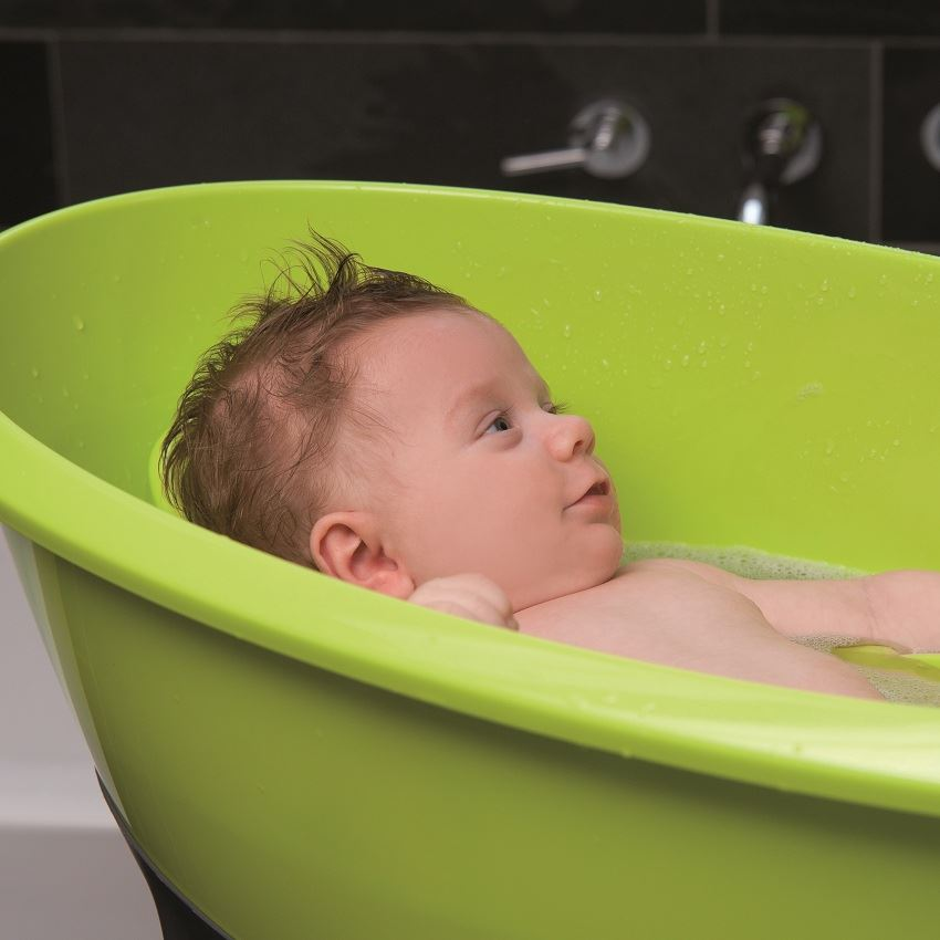 luma large baby bath tub for baby bathtime lime green ebay. Black Bedroom Furniture Sets. Home Design Ideas
