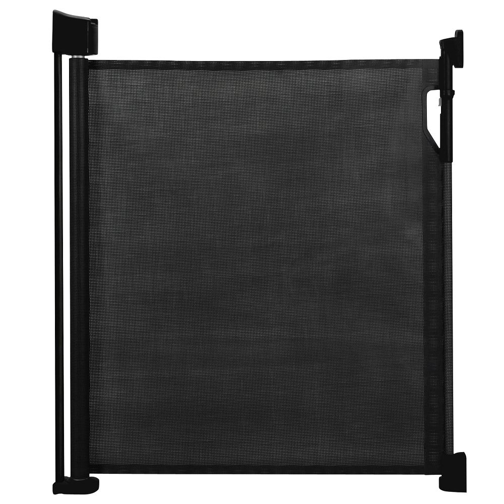 Safetots Advanced Retractable Mesh Baby Stair Gate Black