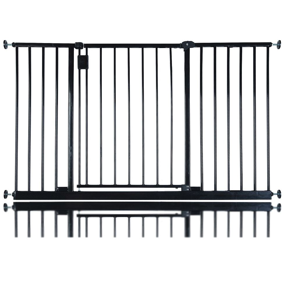 safetots extra wide hallway stair baby safety gate extra. Black Bedroom Furniture Sets. Home Design Ideas