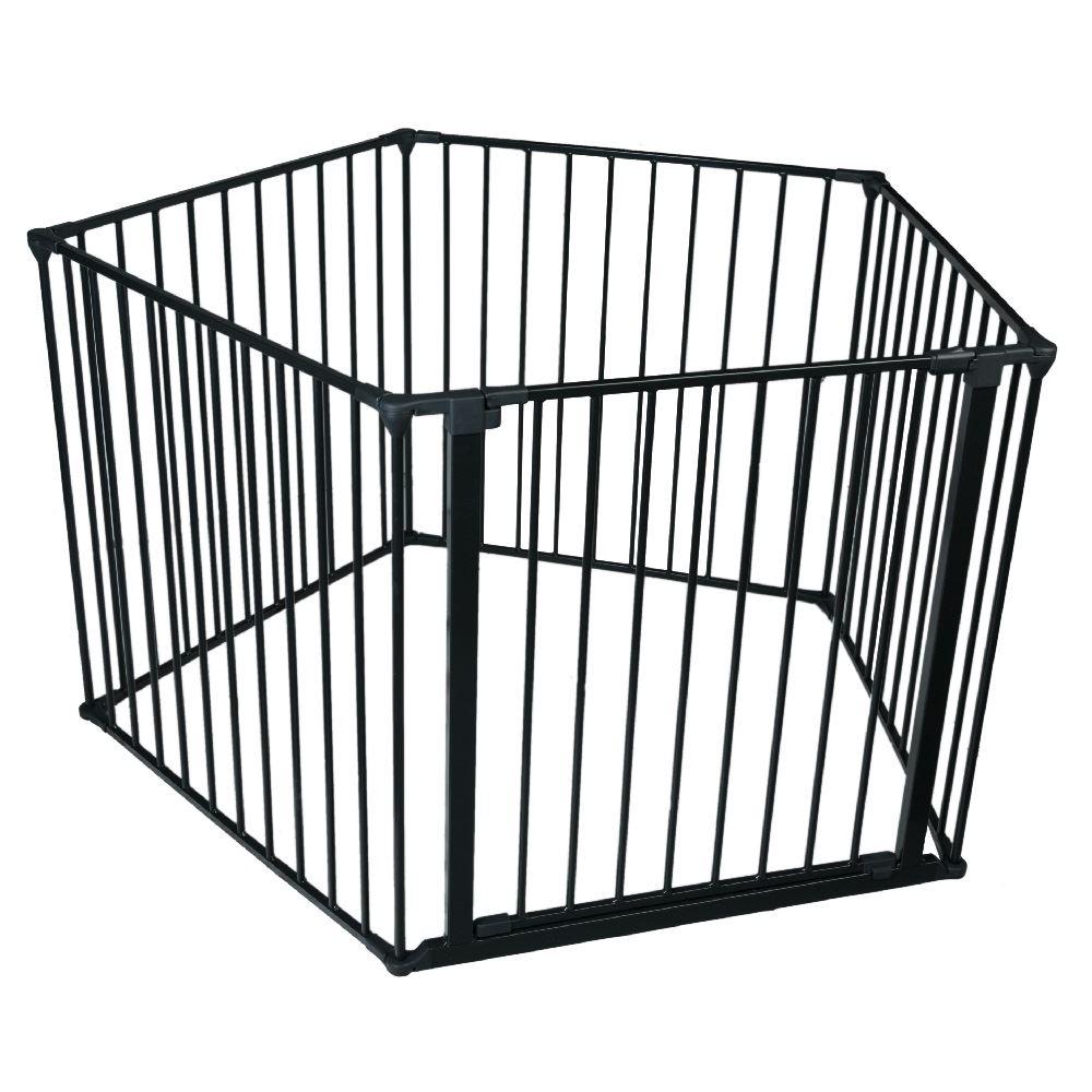 safetots dog puppy indoor pet pen fence cage playpen black various sizes