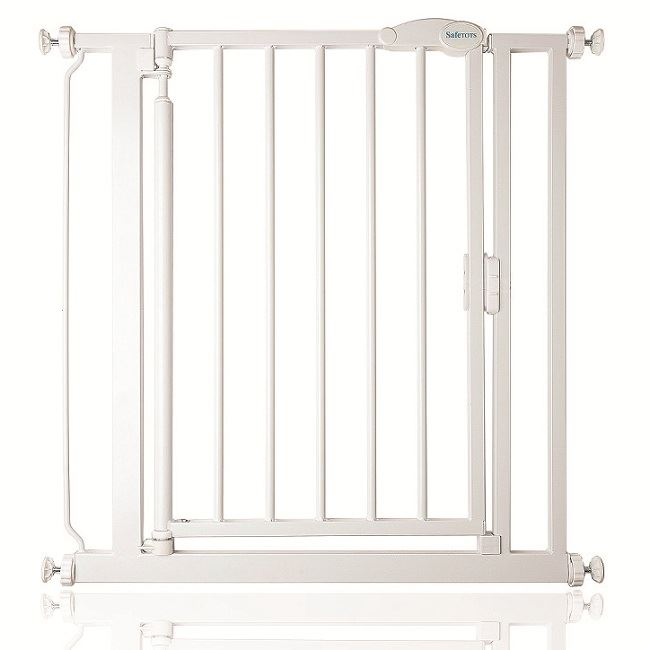 safetots extra narrow self closing baby safety gate. Black Bedroom Furniture Sets. Home Design Ideas