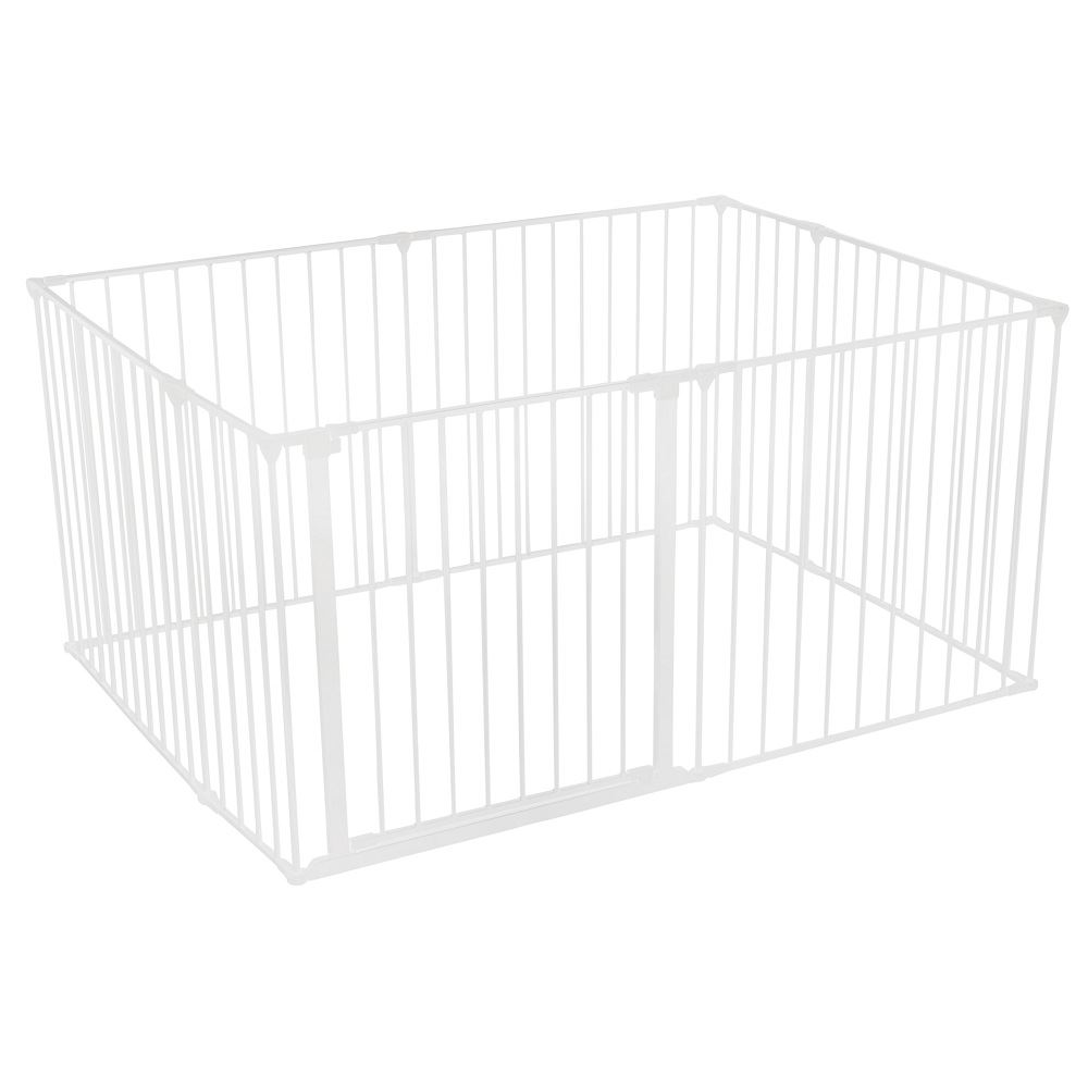 Safetots Dog Puppy Indoor Pet Pen Fence Cage Playpen White