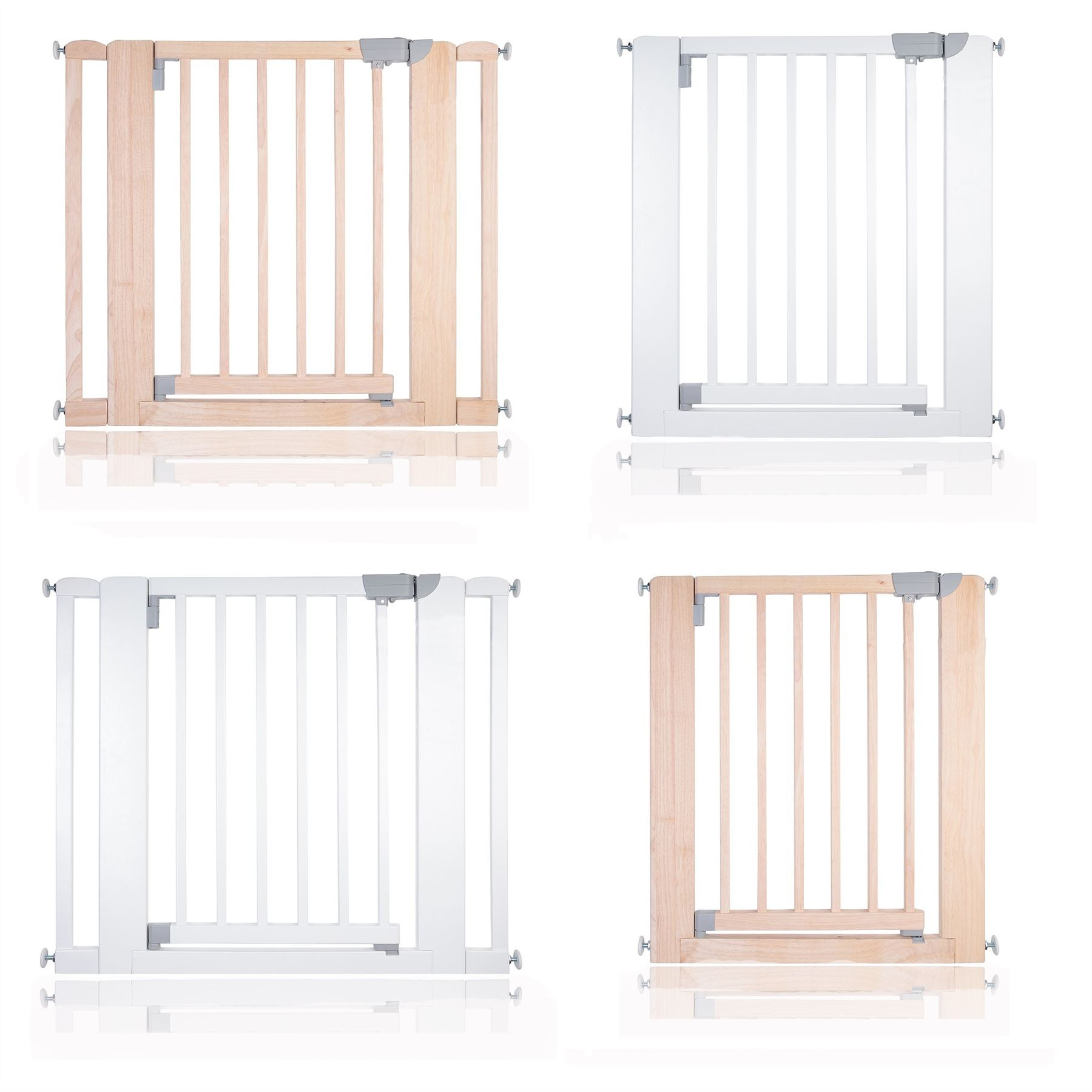 Safetots Chunky Wooden Pressure Fit Stair Gate 74 97cm
