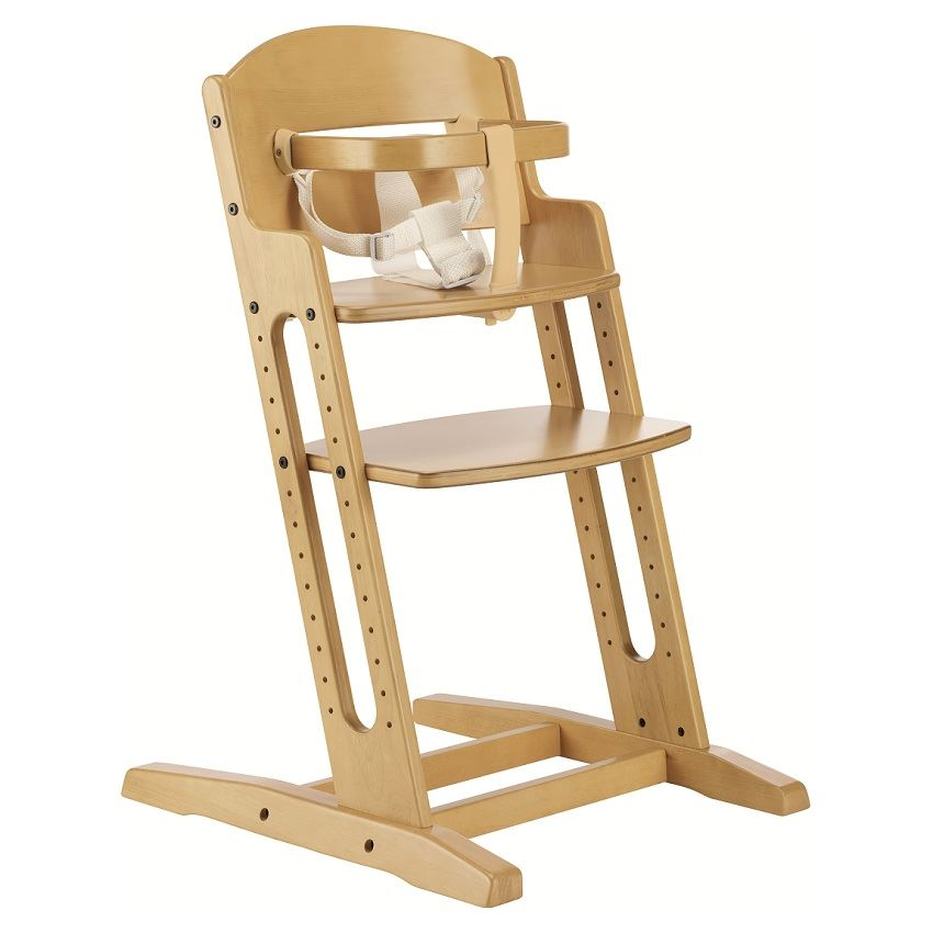 new babydan baby highchair nature wooden high chair feeding height adjustable ebay. Black Bedroom Furniture Sets. Home Design Ideas