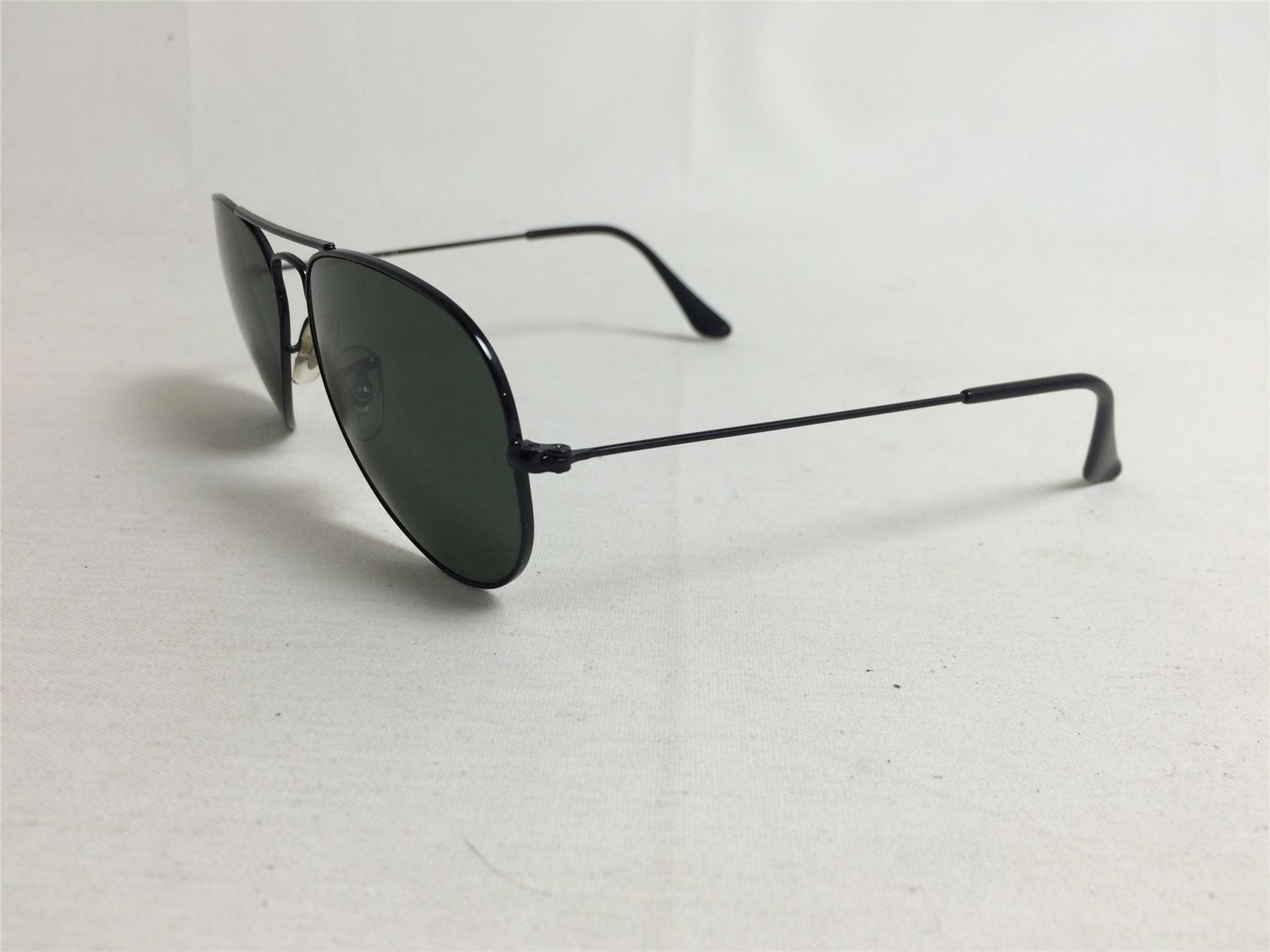 Black Metal Frame Glasses : Ray Ban Aviator RB3025 Sunglasses Black Metal Frame eBay