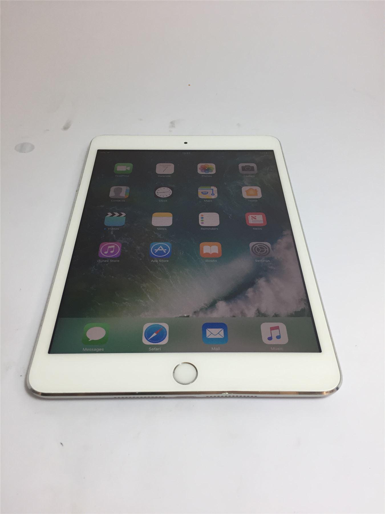 apple ipad mini 3 a1599 white 32gb wifi ios 10 2 1. Black Bedroom Furniture Sets. Home Design Ideas