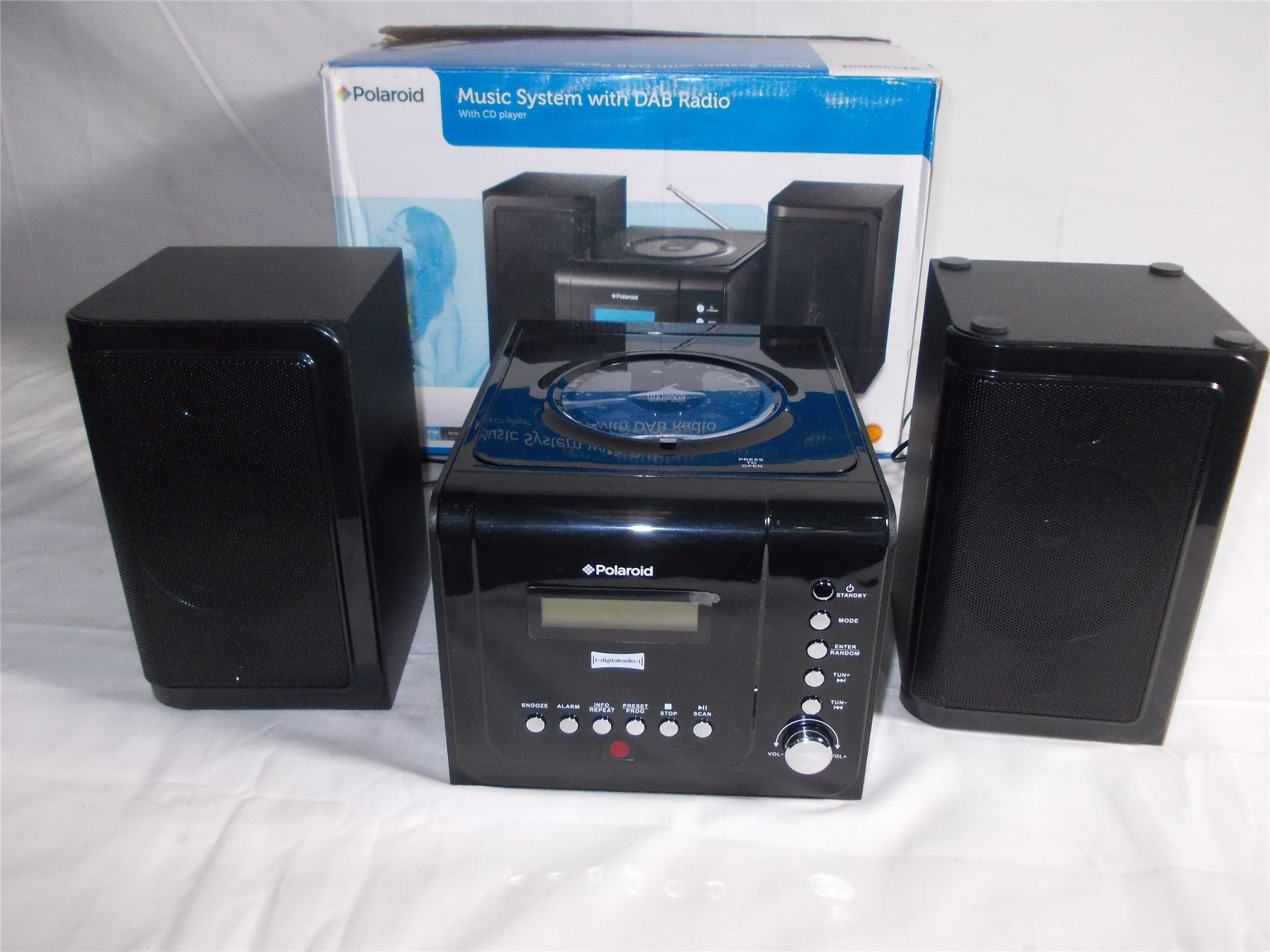 polaroid ds293 mini micro music sytem cd player dab. Black Bedroom Furniture Sets. Home Design Ideas