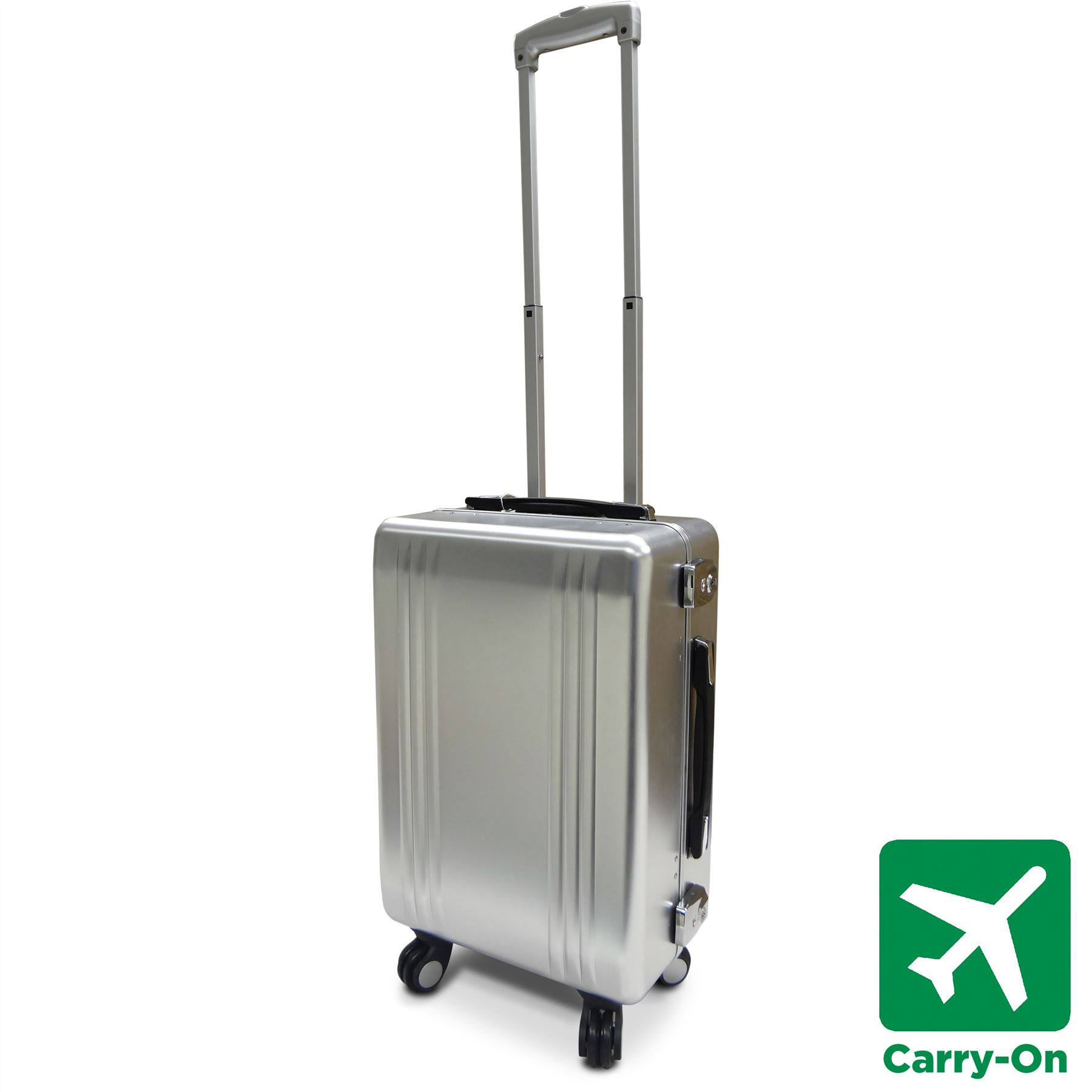 Aluminium Spinner Suitcase Small/Medium/Large Hard Cabin Luggage ...