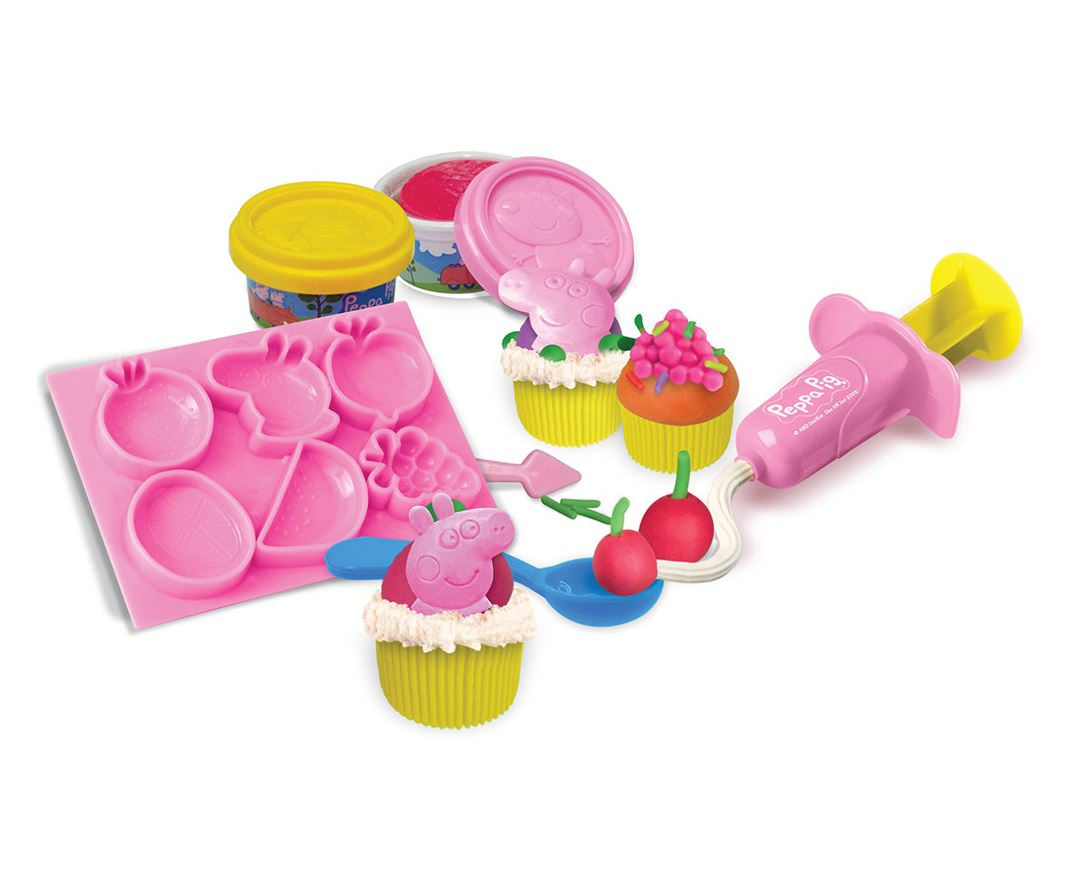 Peppa PIG Cupcake Maker Dough Kitchen Playset Cupcake Cake Mould Party Play SET eBay