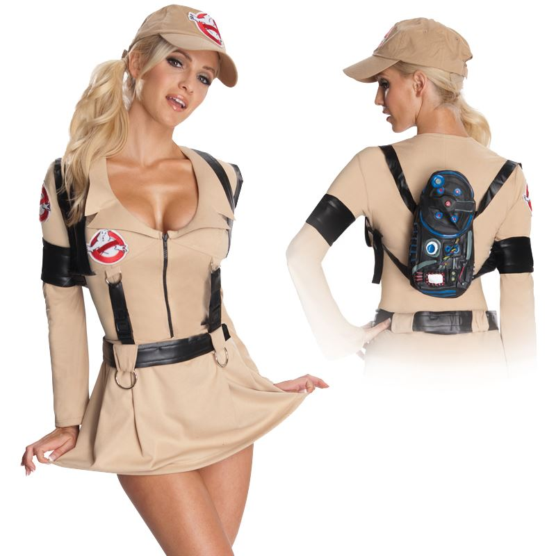 ladies ghostbusters costume fancy dress halloween 80s film retro adult outfit ebay. Black Bedroom Furniture Sets. Home Design Ideas