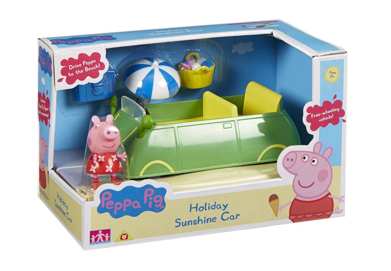 peppa cochon temps de vacances soleil jouet voiture avec. Black Bedroom Furniture Sets. Home Design Ideas