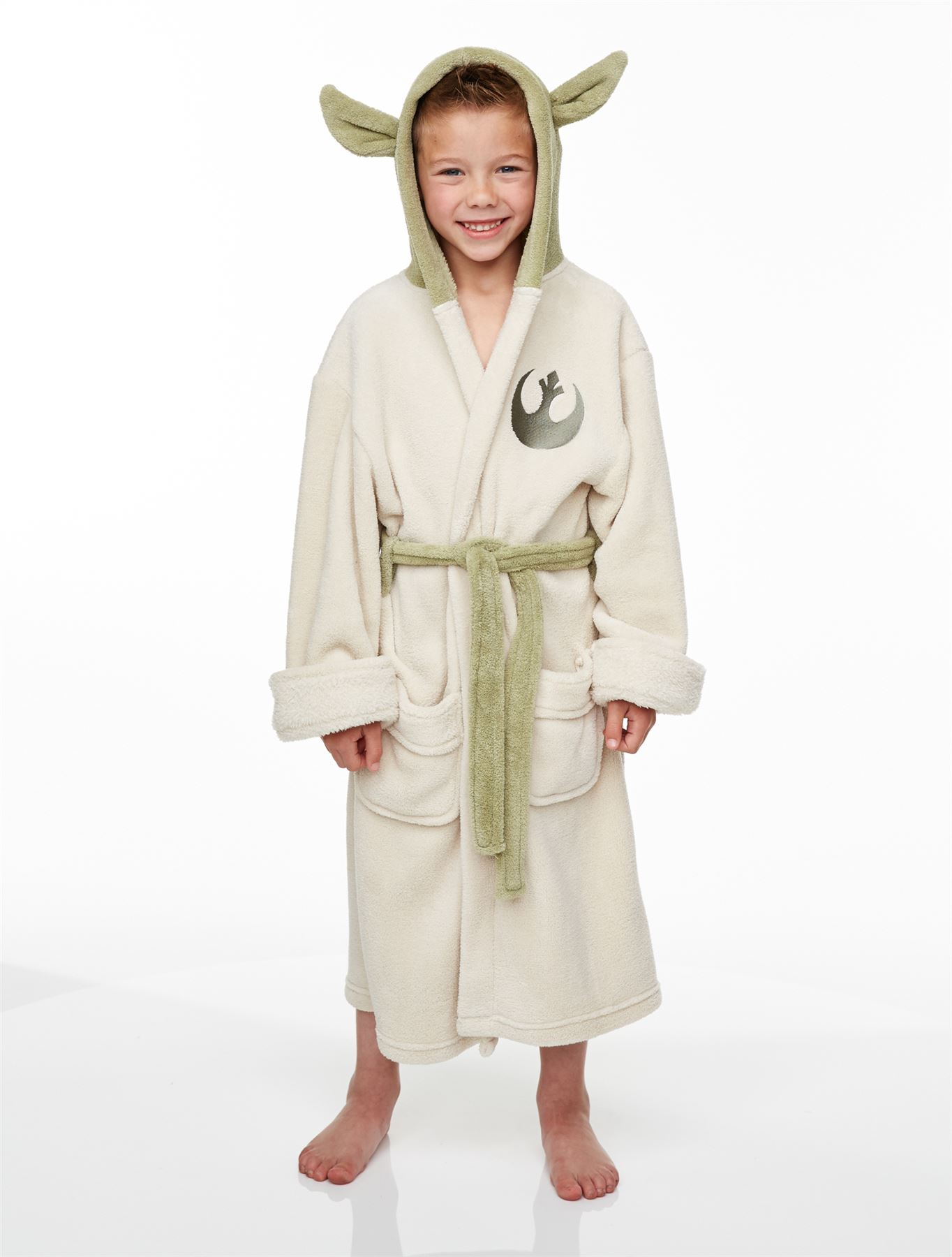 officiel enfants star wars jedi yoda polaire peluche peignoir gar on fille ebay. Black Bedroom Furniture Sets. Home Design Ideas