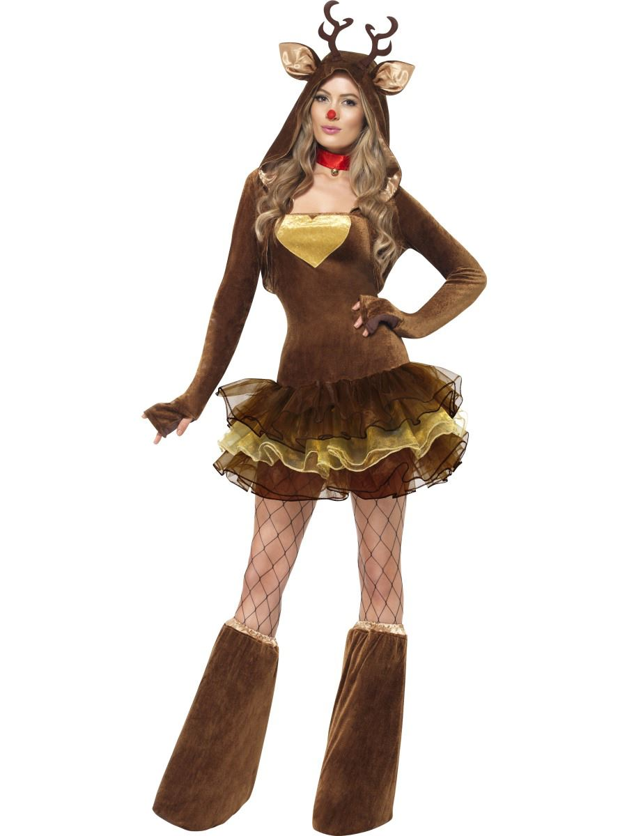 Christmas dress costume - Ladies Fever Reindeer Sexy Christmas Adult Fancy Dress