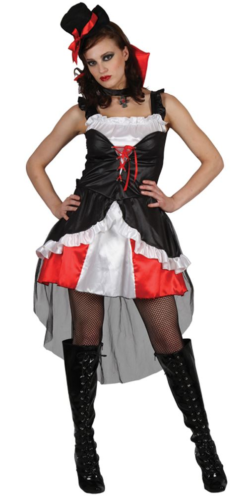 New Deluxe Red Vampire Seductress Ladies Halloween Fancy Dress Hooded