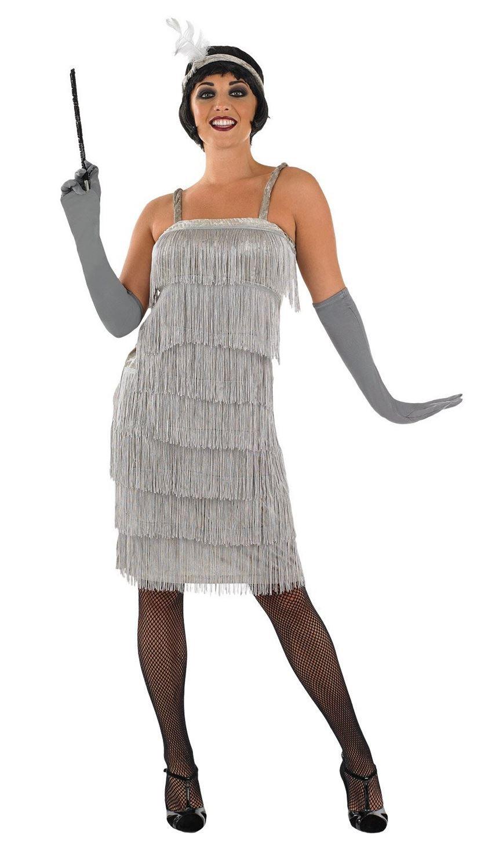 Ladies Charleston Flapper 1920s Fancy Dress Costume Adult ...