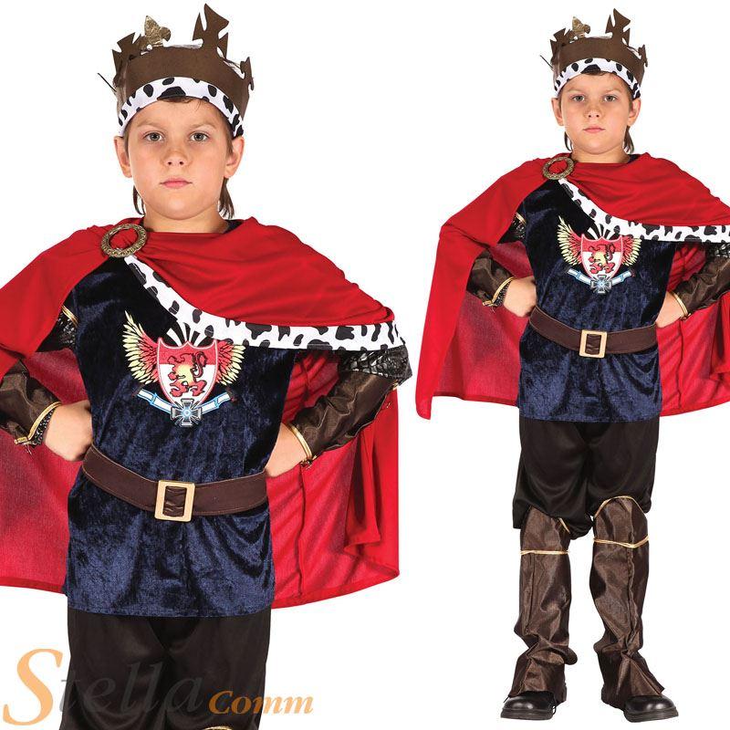 ... King Fairy Tale Prince Book Week Kids Fancy Dress Costume Outfit
