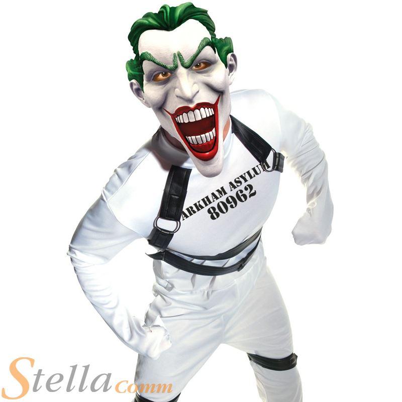 Mens Joker Straight Jacket Arkham Batman Halloween Fancy Dress ...
