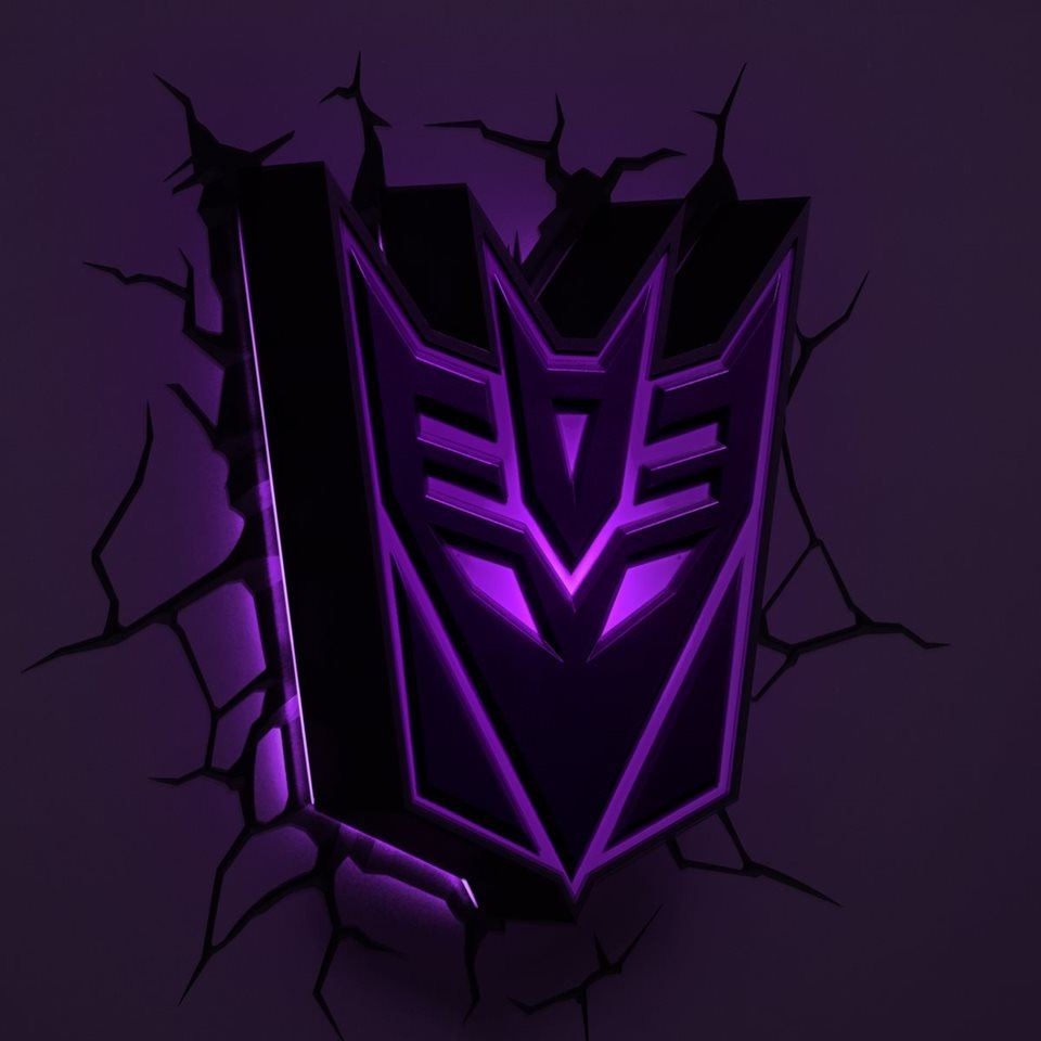 Official 3d Fx Deco Transformers Autobot Decepticon