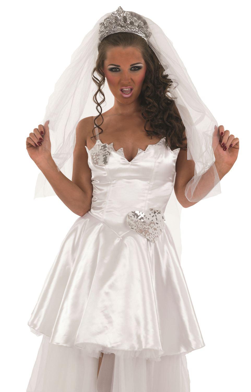 Adult bride costume tv big fat gypsy wedding fancy dress for Wedding dress costume for adults