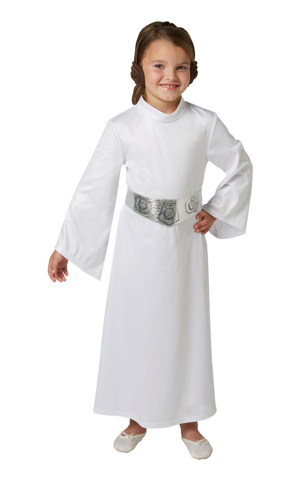 girls princess leia costume star wars fancy dress party child outfit. Black Bedroom Furniture Sets. Home Design Ideas