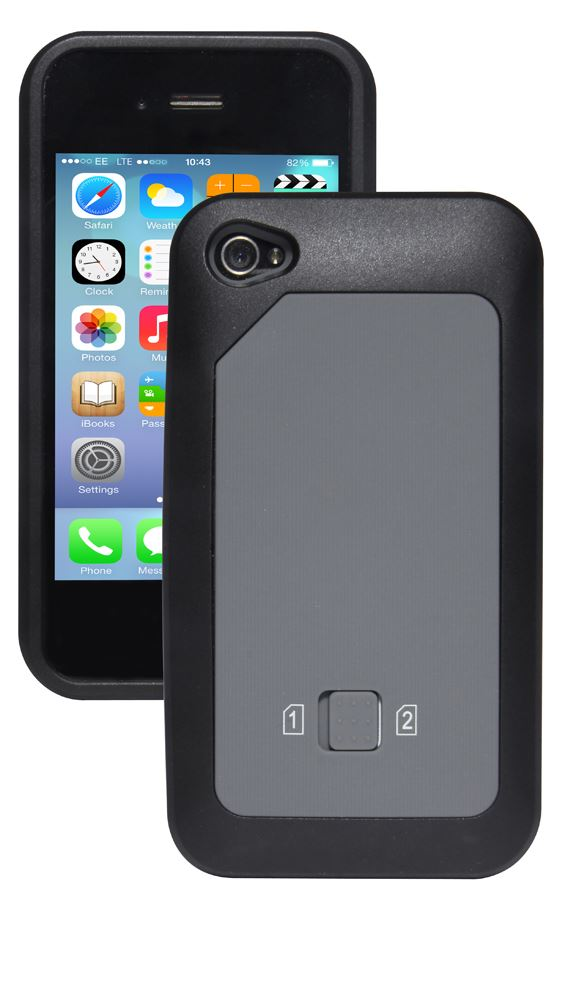 dual sim case cover for iphone 4 4s micro standard sim card compatible ebay. Black Bedroom Furniture Sets. Home Design Ideas